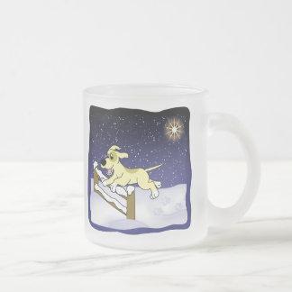 Cartoon Agility Dog Christmas Coffee Mug