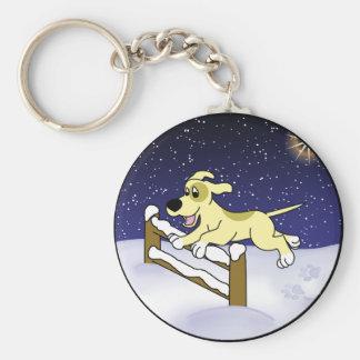 Cartoon Agility Dog Christmas Keychain