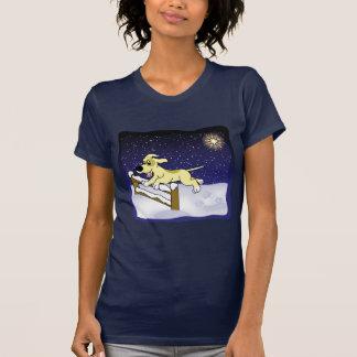 Cartoon Agility Dog Christmas Ladies Shirts