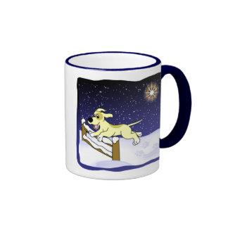 Cartoon Agility Dog Christmas Mug