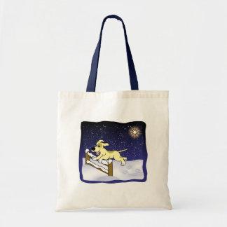 Cartoon Agility Dog Christmas Tote Bag