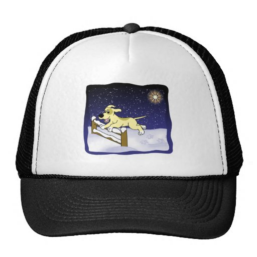 Cartoon Agility Dog Christmas Trucker Hat