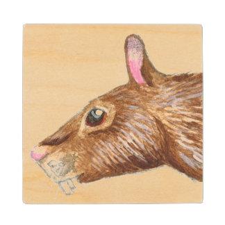 cartoon agouti rat wood coaster