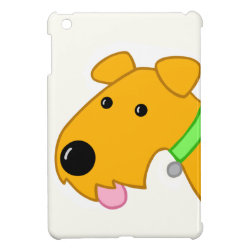 Case Savvy iPad Mini Glossy Finish Case with Airedale Terrier Phone Cases design