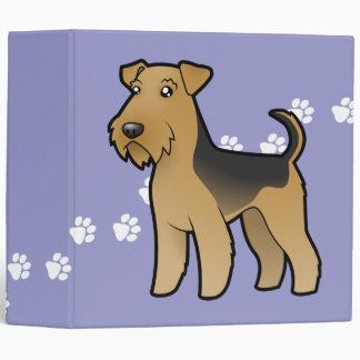 Cartoon Airedale Terrier / Welsh Terrier 3 Ring Binder