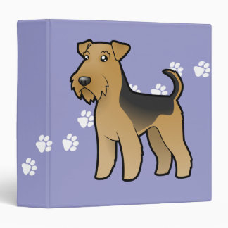 Cartoon Airedale Terrier / Welsh Terrier Binder