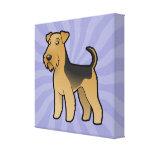 Cartoon Airedale Terrier / Welsh Terrier Canvas Print