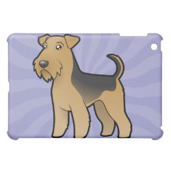 Cartoon Airedale Terrier / Welsh Terrier Case For The iPad Mini