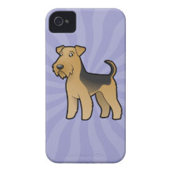 Cartoon Airedale Terrier / Welsh Terrier iPhone 4 Case