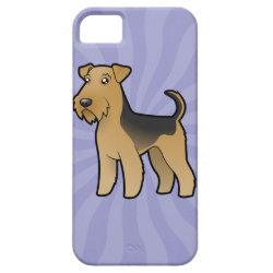 Cartoon Airedale Terrier / Welsh Terrier iPhone SE/5/5s Case