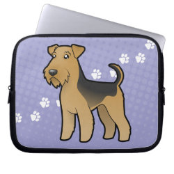 Cartoon Airedale Terrier / Welsh Terrier Computer Sleeve