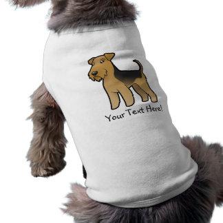 Cartoon Airedale Terrier / Welsh Terrier Dog T Shirt
