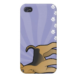 Cartoon Airedale Terrier / Welsh Terrier iPhone 4/4S Cover