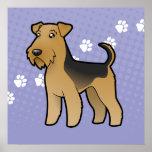 Cartoon Airedale Terrier / Welsh Terrier Poster