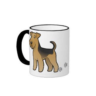 Cartoon Airedale Terrier / Welsh Terrier Ringer Mug