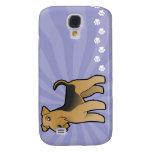 Cartoon Airedale Terrier / Welsh Terrier Samsung Galaxy S4 Case