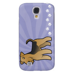 Cartoon Airedale Terrier / Welsh Terrier Samsung Galaxy S4 Case