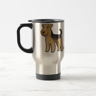 Cartoon Airedale Terrier / Welsh Terrier Travel Mug