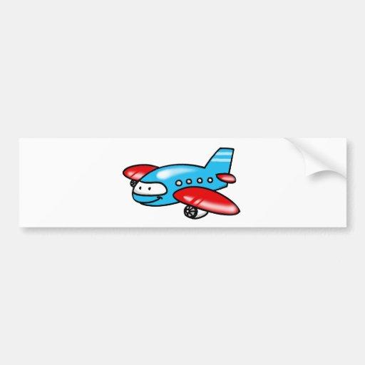 cartoon airplane bumper sticker