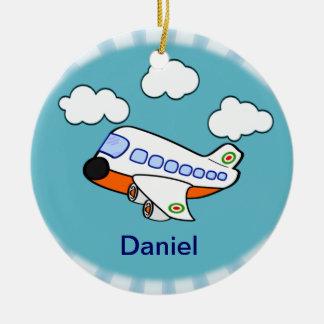 Cartoon Airplane Ceramic Ornament