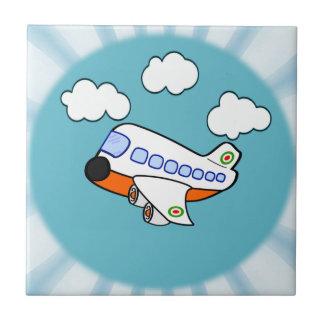 Cartoon Airplane Ceramic Tile