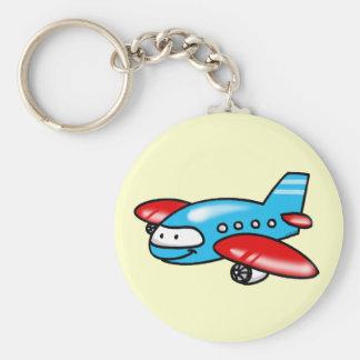 cartoon airplane keychain