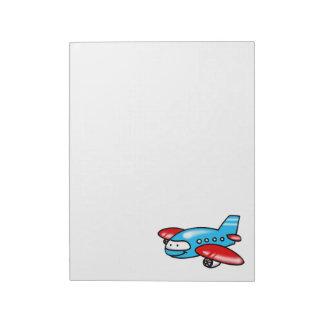 cartoon airplane notepad