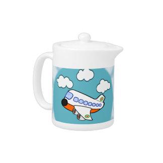 Cartoon Airplane Teapot
