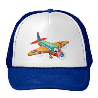cartoon airplane trucker hat