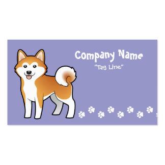 Cartoon Akita Inu / Shiba Inu Business Card