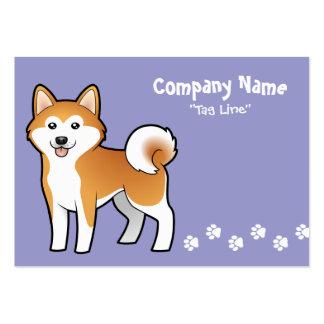 Cartoon Akita Inu / Shiba Inu Business Card Templates