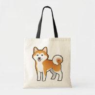 Cartoon Akita Inu / Shiba Inu Canvas Bags