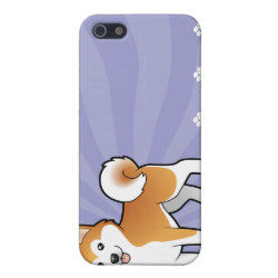 Case Savvy iPhone 5 Matte Finish Case with Akita Phone Cases design