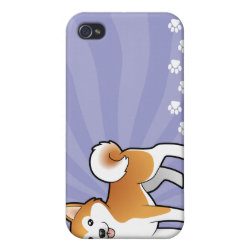 Case Savvy iPhone 4 Matte Finish Case with Akita Phone Cases design