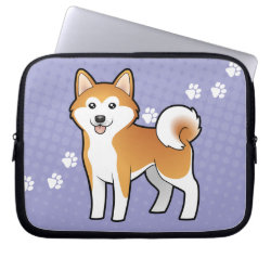 Neoprene Laptop Sleeve 10 inch with Akita Phone Cases design