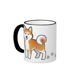 Cartoon Akita Inu Shiba Inu Coffee Mug