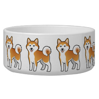 Cartoon Akita Inu / Shiba Inu Dog Bowl