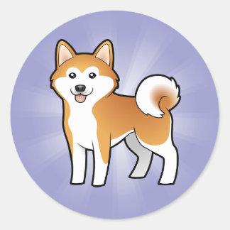 Cartoon Akita Inu / Shiba Inu Sticker