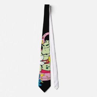 cartoon aliens and bunnies funny vector tie