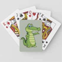 Cartoon Alligator Background Playing Cards