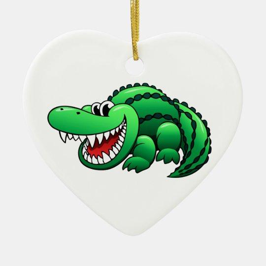 Cartoon Alligator Ceramic Ornament