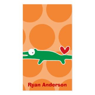 Cartoon Alligator Kid Custom Photo Profile Card Business Card Templates