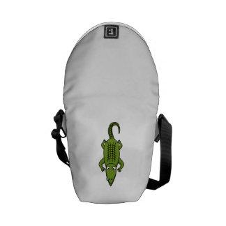Cartoon Alligator Messenger Bags
