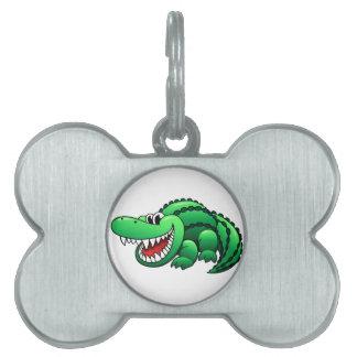 Cartoon Alligator Pet ID Tag