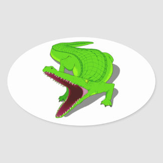 Cartoon Alligator with Its Mouth Open Sticker