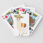 Cartoon Alpaca in Sombrero 2 Bicycle Playing Cards