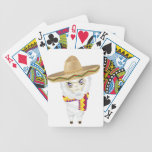 Cartoon Alpaca in Sombrero Bicycle Playing Cards
