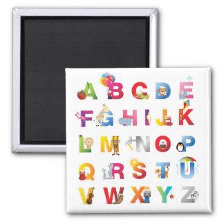 cartoon alphabet fridge magnet