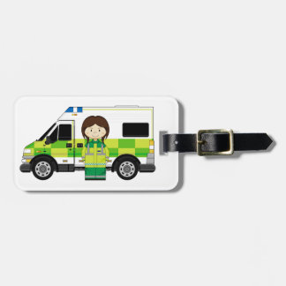 Cartoon Ambulance and EMT Tag For Bags