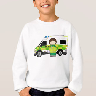 Cartoon Ambulance and EMT Sweatshirt